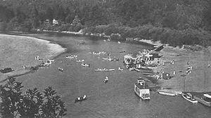 Monte Rio, California - Beach on Russian River at Monte Rio, 1909
