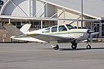 Beech V35 Bonanza (VH-DEV) taxiing at Wagga Wagga Airport 1.jpg