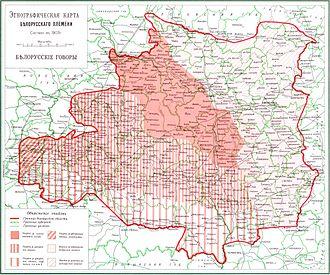 Belarusian minority in Poland - Belarusians, 1903