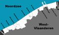 Belgische kustlijn met namen.png