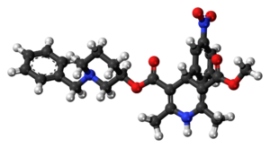 Benidipine - Image: Benidipine 3D balls