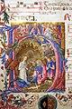 Benvenuto di giovanni, pagina di antifonario con iniziale H e la natività, siena 1471, 02.jpg