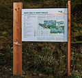 Bergtocht van Gimillan (1805m.) naar Colle Tsa Sètse in Cogne Valley (Italië). Informatiebord boven Gimillan (1805m.).jpg