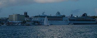 Bermuda Fitted Dinghy - A Bermuda Fitted Dinghy, being put through its paces in Hamilton Harbour, Bermuda.