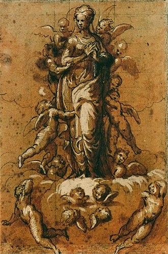 Museum of Fine Arts of Rennes - Image: Bernardino Campi Immaculée Conception