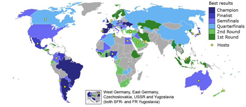 Fifa u 20 world cup wikipedia map of the best results for each country gumiabroncs Images