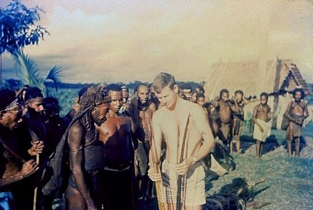 Australian patrol officer in 1964 Biami people, near Nomad patrol post, 1964.jpg