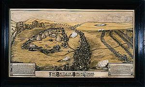 Battle of Birch Coulee - Lithograph depicting the Battle of Birch Coulee.