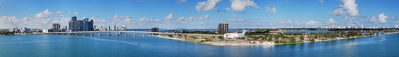 Panorama da Baía Biscayne, vista a partir do Porto de Miami