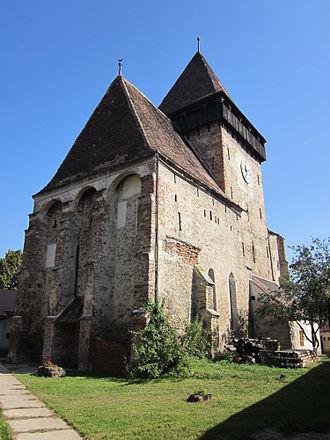 Axente Sever, Sibiu - Image: Biserica Fortificata din Axente Sever Sibiu Poza 4