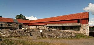 Henrich Krummedige -  Ruins of medieval Hamar Bishop's palace.