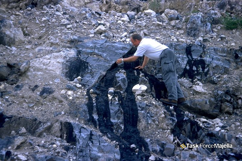 File:Bitumen in the Valle Romana Quarry.jpg