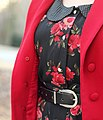 Black and Red Floral Dress and a Red Jacket (16159482494).jpg