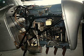 Blackburn Cirrus Major - Right side view of a Cirrus Major III installed in an Auster J/5G