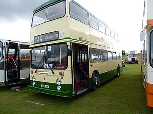 Blackburn Transport - Preserved East Lancs bodied Leyland Atlantean in September 2012