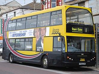 Blackpool Transport - East Lancs Myllennium Lolyne-bodied Dennis Trident in Blackpool in June 2013