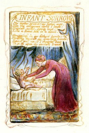 Infant Sorrow - William Blake's original plate for Infant Sorrow