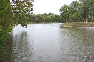 Findlay, Ohio - The Blanchard River as seen from Riverside Park in Findlay