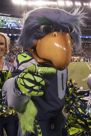 Blitz (mascot) - Blitz, at Super Bowl XLVIII.
