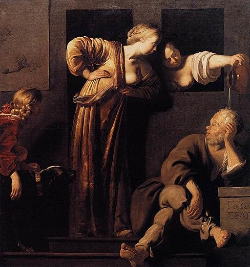 Blommendae, Reyer Jacobsz. van - Xantippe Dousing Socrates - c. 1655