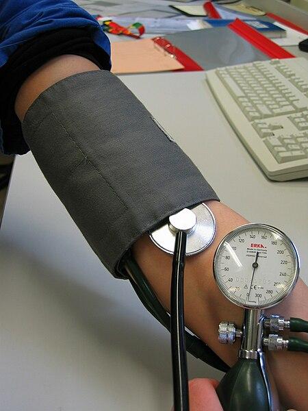 File:Blood pressure measurement.JPG