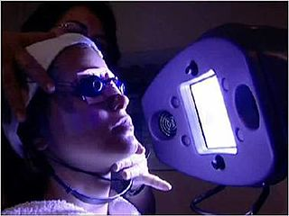 Light therapy therapy consisting of exposure to daylight or to specific wavelengths of light, for a prescribed amount of time or at a specific time of day