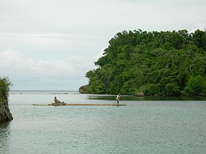English: Blue lagoon beach, Port Antonio, Port...