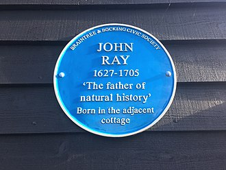 John Ray - Blue plaque to John Ray