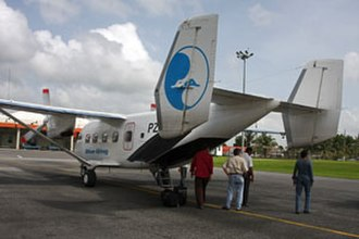 Blue Wing Airlines - A Blue Wing Airline Antonov An-28 at Cheddi Jagan International Airport, Georgetown, Guyana. (2008)
