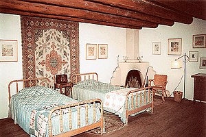 Bedroom in the Blumenschein House, Taos, New M...