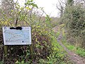 Board by the towpath - geograph.org.uk - 1640849.jpg
