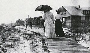 Seaside Park, New Jersey - First boardwalk in Seaside Park (early 1900s)