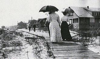 Seaside Park, New Jersey - First boardwalk in Seaside Park (early 1900s)