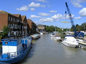 Sandwich, Kent - Boats on the River Stour at Sandwich