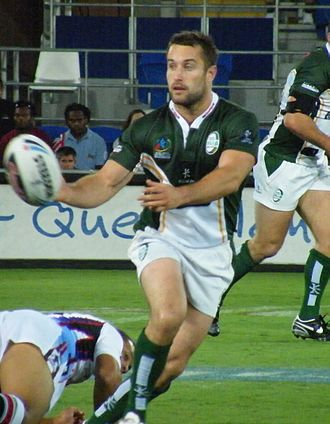 Bob Beswick - Bob Beswick playing for Ireland against Fiji at the 2008 Rugby League World Cup