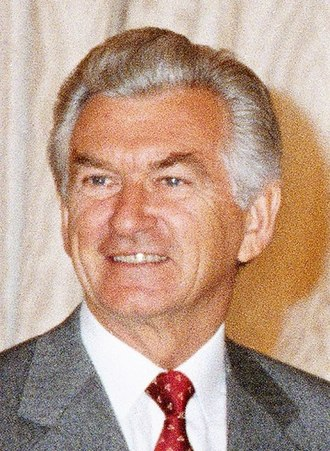 Hawke Government - Image: Bob Hawke 1987 portrait crop