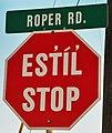 Bonaparte - Secwepemctsin stop sign.jpg