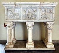 Bonino da Campione, sarcofago di regina della scala, da s. giovanni in conca, 01.JPG