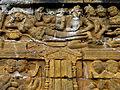 Borobudur - Lalitavistara - 013 E, The Bodhisattva enters Queen Maya's Womb (detail 1) (11247815745).jpg