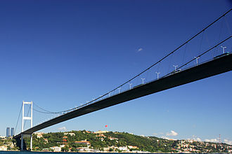 Bosporus - Bosphorus Bridge, the first to be built across the Bosphorus, completed in 1973
