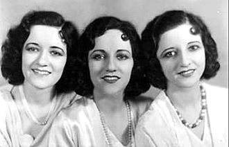 Martha Boswell - Image: Boswell Sisters 1931