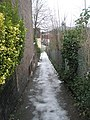 Bottom end of the path from Wodeland Avenue to the A31 - geograph.org.uk - 1161018.jpg