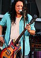 Bowed guitar, Canadian Aboriginal Music Festival 2010.jpg