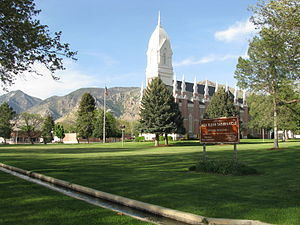 Brigham City, Utah - The Box Elder Stake Tabernacle is one of 28 sites in or near Brigham City listed on the National Register of Historic Places