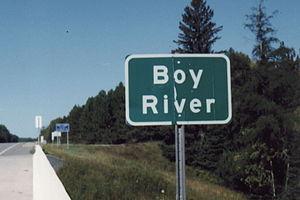 Boy River (Leech Lake) - Image: Boy River Minnesota