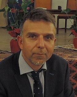 """6afdff6d7a6 Боян Петров. Български зоолог и алпинист. По време на представяне на  книгата му """"Първите седем"""", 6 февруари 2017 г"""