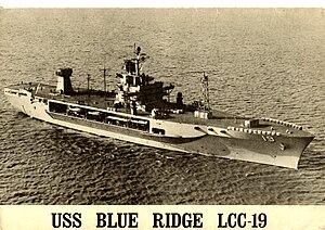 USS Blue Ridge (LCC-19) - First INSURV, North Atlantic, January 1971