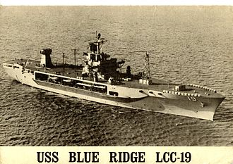 USS Blue Ridge (LCC-19) - First INSURV, North Atlantic, January 1971