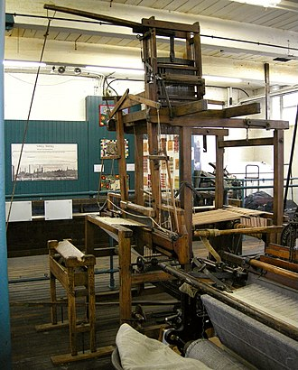 Bradford Industrial Museum - Hand loom with witch
