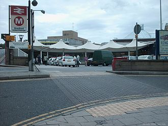 Bradford Interchange - The car park and entrance